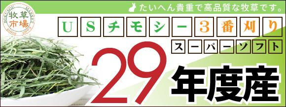 29年度産 USチモシー3番刈り 販売開始